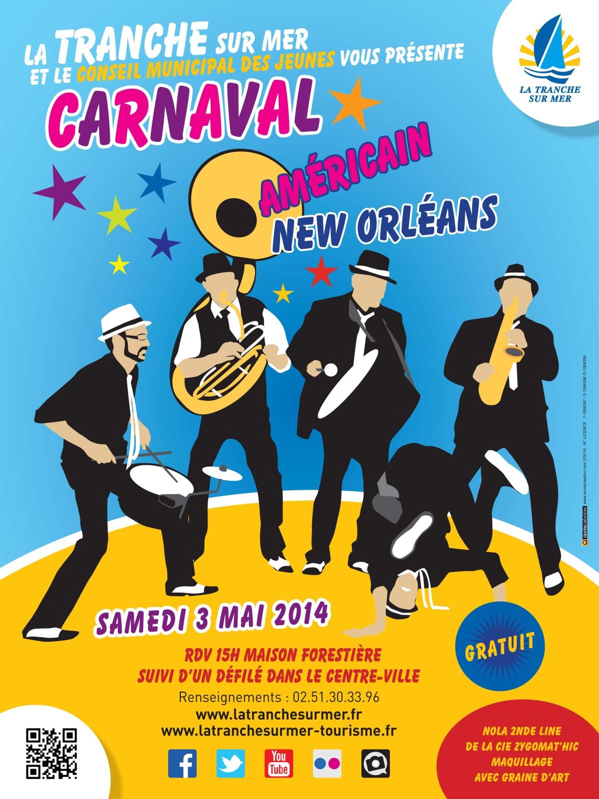 affiche CARNAVAL 2014 tranche sur mer